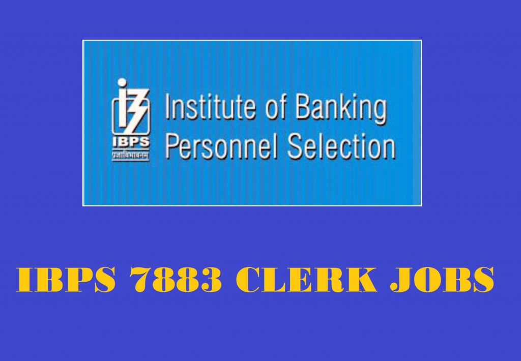 IBPS 7883 Clerk Posts